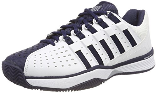 K-Swiss Performance Hypermatch, Scarpe da Tennis Uomo, Bianco (White/Navy/Silver 37) 41 EU