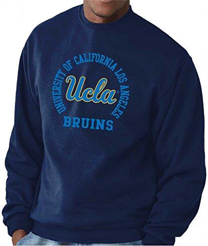 Adult Crewneck Fleece Sweatshirt (UCLA College Campus Farben Traditioneller Maler Bruins Erwachsene NCAA Team Spirit Crewneck Sweatshirt-Marineblau, Herren, Navy, X-Large)