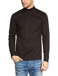 Trigema Stehkragen - T-shirt à manches longues - uni - Manches longues - Homme