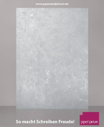 STRUCTURE GRAU, 100 Blatt Motivpapier, mit Struktur wie Marmor, Granit, Spachteloptik, für Urkunden, Einladungen, private Korrespondenz, 90g/qm