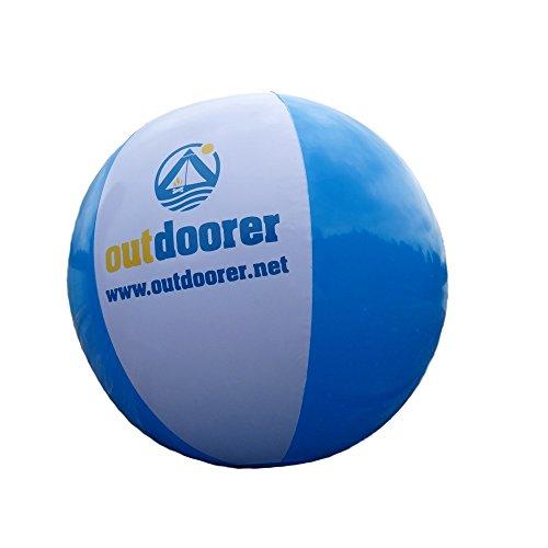 outdoorer BeachSplash Wasserball - Beachball - Strandball, aufblasbar, Durchmesser ca. 28 cm