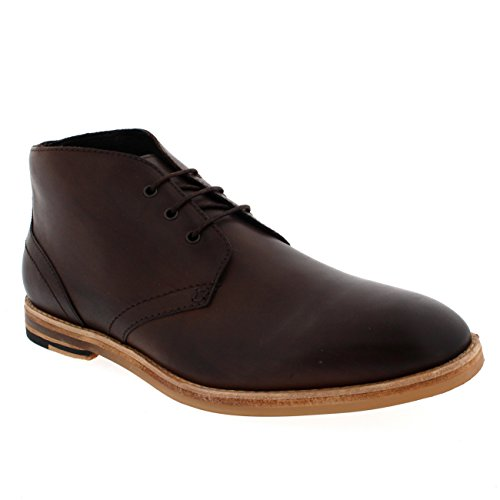 Hommes H By Hudson Houghton 2 Lacer Cheville Bottes Chukka Chaussures Noir