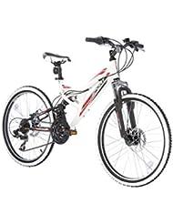 "Bikesport DIRECTION Bicicleta para niño, Tamaño de rueda: 24"", Aluminio cuadro 21 velocidades Shimano Blanco Negro"