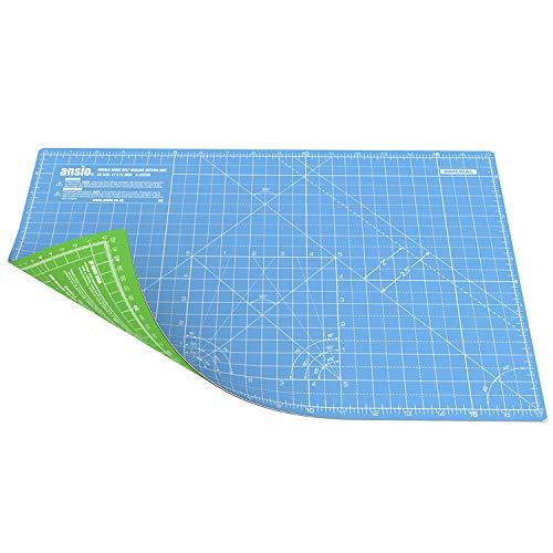 ANSIO A3, Doppio lato autoguarigione, 5 strati di taglio, Mat imperiale/metrica, 43cm x 28cm, Multicolore (Blue Sky/Lime Green)