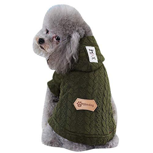 Kostüm Getreide - ZTMN Katze Hund Getreide Linie Warmer Mantel Heimtierbedarf Winterbekleidung Welpen Kostüm Bequeme Kleidung (Farbe: A, Größe: S)
