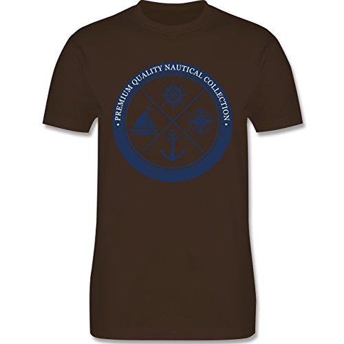 Shirtracer Schiffe - Premium Quality Nautical Collection Sailing - Herren T-Shirt Rundhals Braun