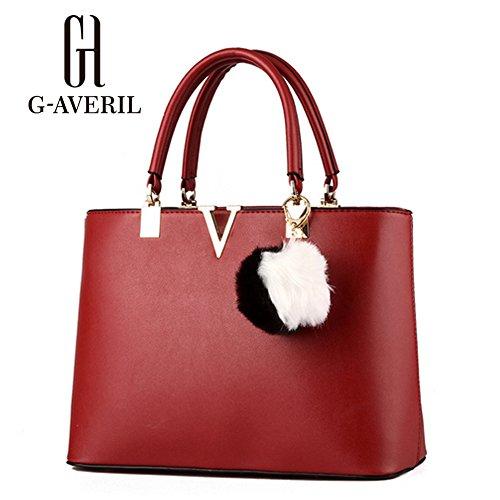 G-AVERIL, Borsa a mano donna bianco White Red Wine