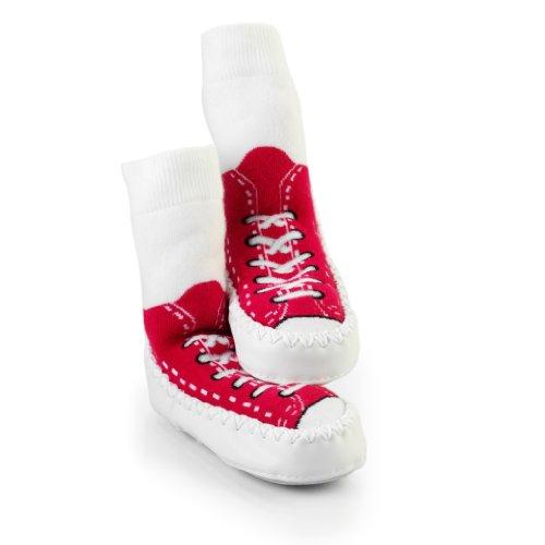 SOCK ONS Mocc Ons Sneakers Calcetines Andar por Casa (rojo) (12-18 meses)