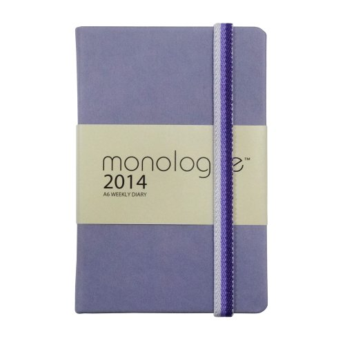 Grandluxe Monologue Diary 5.5-Inch x 3.5-Inch, Blackberry (701123)