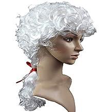 RANRANHOME Juez Abogado Gorras Peluca Corta Pelo Rizado George Washington Peluca Hombres Mujeres Juez por Genérico