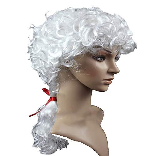 RANRANHOME Richter Anwalt Wig Caps Kurz Lockly Hair -