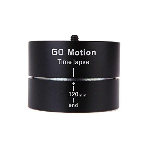 Gearmax® Rotierender Panoramakopf (120 Minuten, Stativkopf, Schwenkkopf, Eieruhr) für 360 Grad und Timelapse Fotografie für Goprp/iPhone/Smartphone/Action Kamera/Zeitrafferkamera