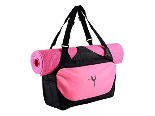 Bleu Pont extérieur Tapis de Yoga Sac de Yoga Sac de Gym Sports Sac fourre-Tout de Voyage Weekender Sac de Sport (Rose) pour Voyager