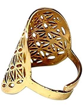 Ring Lotus Messing Farbe Silber