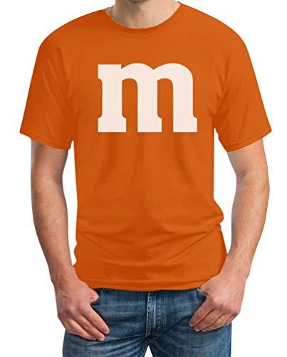 Süßes M Outfit Herren Karneval Fasching Gruppen-Kostüme T-Shirt Large Orange