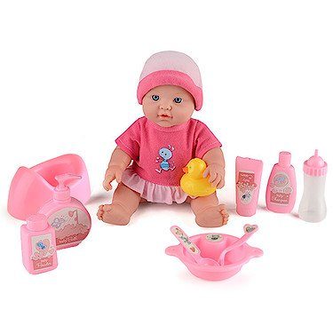 41uPNBPYRkL - BEST BUY #1 Baby Snuggles Deluxe 30cm Doll with 10 Accessories Reviews and price compare uk