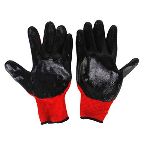 Gants de Protection Anti Morsure pour Hamster Noir + Rouge