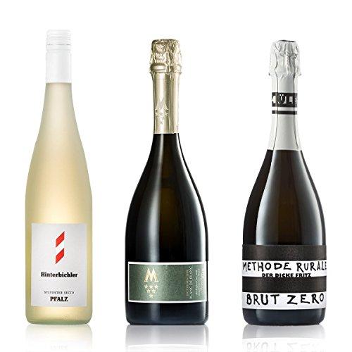 GEILE WEINE Weinpaket Sekt & Perlweine | 3 x 0,75l Kleines Probierpaket mit Prickelndem von Winzern...