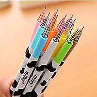 KinshopS 12color Cute Cartoon Milk Cow 0.38mm Fineliner Pens Marker Pen Gel Ink Pen Set
