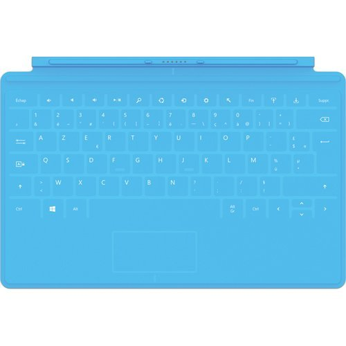 Microsoft Touch Cover / virtuelle Tastatur (geeignet für Surface RT und Surface Pro Tablet-PCs) Blau / Zyan