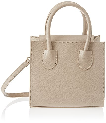 Chicca Borse 1517, Borsa a Mano Donna, 20x19x10 cm (W x H x L) Beige (Taupe)