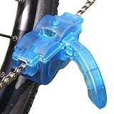 Jowneel Limpiador de Cadena de Bicicleta Cadena de Bici Herramienta de Limpieza rápido Limpiador Una combinación de cepillos de Limpieza y Guantes de látex(Azul Transparente)