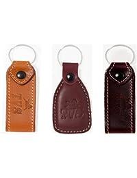 Luck Stone Premium Quality New 3 Leather TVS Bike Combo Key Chain TVS Design Ring Keyring Keychain For Bikes,...