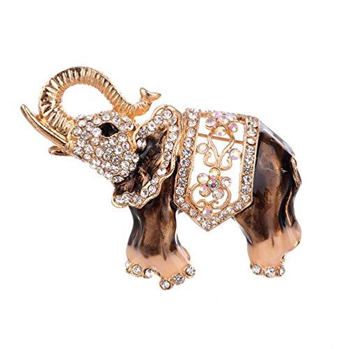 Carry stone Vintage Strass Elefant Brosche bedeckt Schals Schal Clip für Mädchen Damen langlebig und praktisch