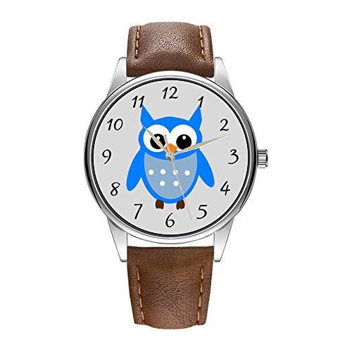 tex Quarz-Uhr für Männer berühmte Luxus-Armbanduhr Quarzuhr für Werbegeschenk Animierte Eulen-Armbanduhr ()