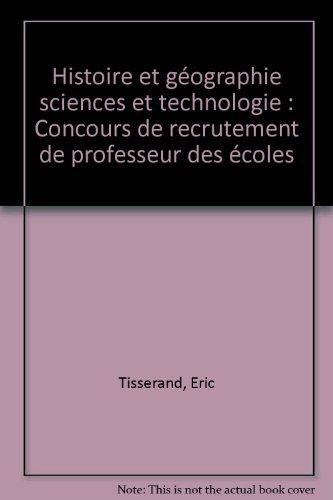 Histoire et géographie sciences et technologie : Concours de recrutement de professeur des écoles