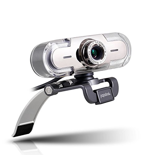 Webcam 1080P, Papalook PA452 de Alta Definición con Micrófono con Gran Apertura Compatible con Skype, MSN, Facebook, Google Hangouts, Webcam de USB Plug and Play, Web Cam para Ordenador, PC, etc