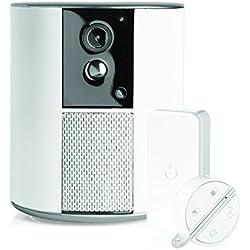 Somfy 2401493 - Somfy ONE + | Alarme sans Fil avec Caméra de Surveillance Intégrée & Sirène 90dB | Full HD | Gd Angle 130° | Détecteur de Mouvement, de vibration et badge | Volet Vie Privée