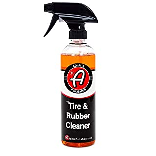 Adam's Tire & Rubber Cleaner 16oz - Removes Discoloration From Tires Quickly - Works Great on Tires, Rubber & Plastic Trim, and Rubber Floor Mats