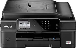 Brother MFC-J870DW Farbtintenstrahl-Multifunktionsgerät (Scanner, Kopierer, Drucker, Fax, Duplex, WLAN, USB 2.0) schwarz