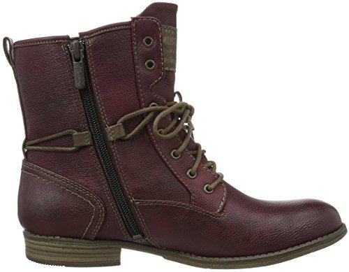 Mustang Damen 1157-537 Combat Boots Rot (55 Bordeaux)