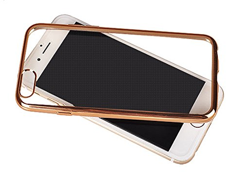 handy-point Clear Case Gummihülle Schutzhülle Schale Silikonhülle Silikon Gummi Hülle für iPhone 6, iPhone 6S (Silber) Goldig