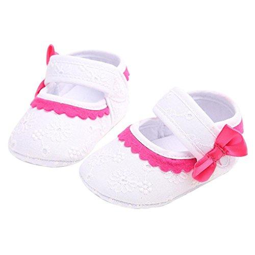 Clode® 0-18 Monate kleinkind kleinkinder mädchen Bowknot Floral Ribbon Schuhe Crib Babyschuhe Weiß