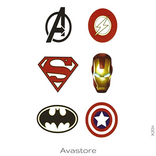 (AVASTORE Temporäre Tattoos, Marvel, Temporäre Tattoos, Marvel)