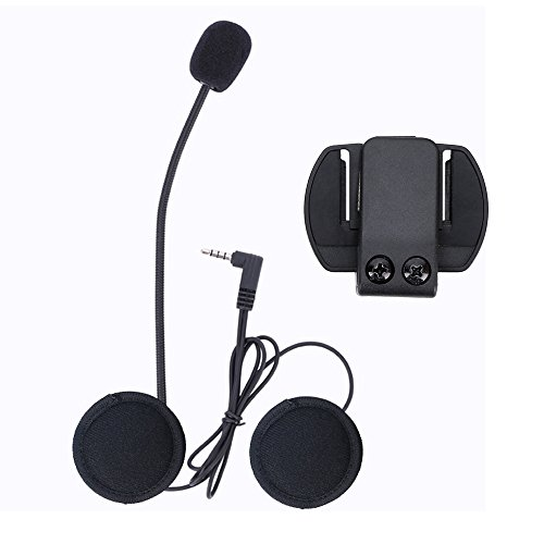 V6 citofono accessori (microfono auricolare e clip staffa) solo vestito per V6 moto casco Bluetooth Headset Interphone