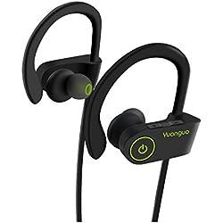 Écouteurs Bluetooth Sport, IPX7 10H Lecteur Musique Étanche Yuanguo Oreillette Stéréo sans Fil Léger Intra(prise en charge HSP, HFP, A2DP, AVRCP)Anti-Bruit IOS Android pour Course/Gym/Jogging