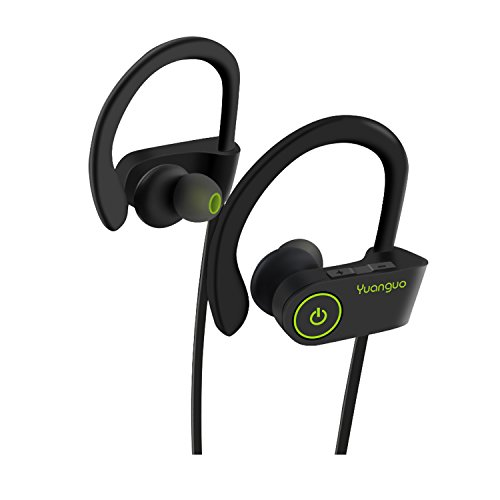 Auricolari wireless bluetooth 4.1 yuanguo cuffie stereo ipx7 impermeabile headset sportive con microfono per iphone,android,ipod&ipad