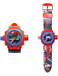 Generic 24 images Spiderman Projector Watch for Kids, Diwali Gift, Birthday Return Gift (Colour May Vary)