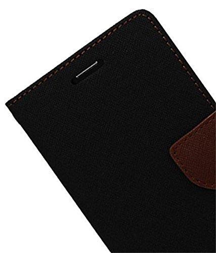 CEDO Luxury Mercury Diary Wallet Style Flip Cover Case For Moto G Play 4th gen (Motorola Moto G4 Play) – Black & Brown