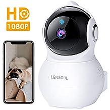 Lensoul Cámara IP WiFi, 1080P HD Cámara de Vigilancia Inalámbrico Interior con Visión Nocturna,