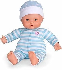 Nenuco de Famosa- Muñeco blandito Blanco con 3 Funciones, Color Azul (700012662A)