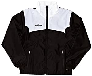 Umbro Boys Training Shower Jacket - Black/White, Large