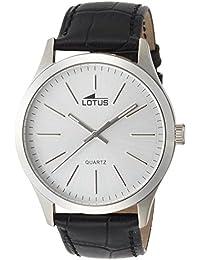 Lotus  15961/1 - Reloj de cuarzo para hombre, con correa de cuero, color negro