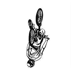xmydeshoop Vélo Stunt Performer Sticker pour Enfants Chambre Mur Mural Décoration De La Maison Mur Art Vinyle Chambre Wall Sticker 56X144Cm