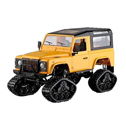 CHshe®--Ferngesteuertes Auto,FY003B 1:16 RC 2,4 GHz 4WD Kettenräder Metallrahmen Lkw RC Auto RTR Spielzeug Neues Design,Geländewagen Spielzeugmodell (Gelb)