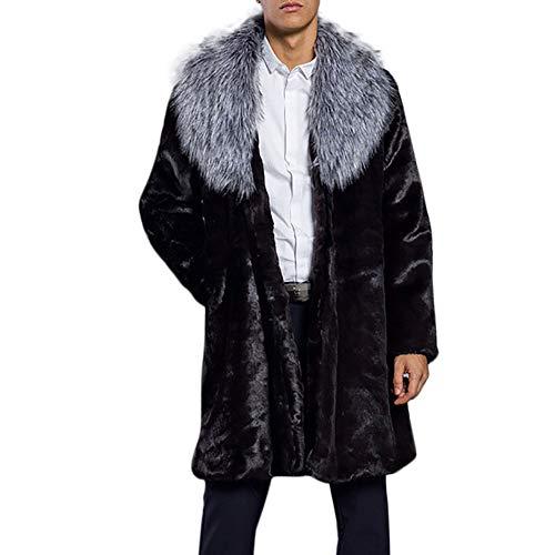 serliy Herren Outwear Warm Thick Collar Coat Jacket Fur Parka Outwear Cardigan Faux Strickjacke lösen Skinny Sexy Karikatur Kapuzenmantel Mantel Kleidung langärmlig Knopfleiste schöne Langarmshirts